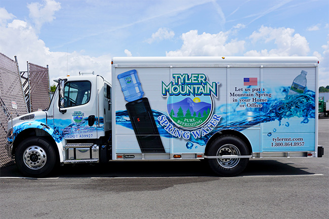 Tyler Mountain Water Delivery Truck